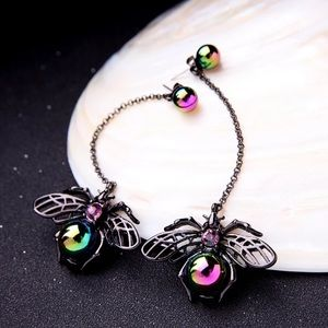 New long insect  drop earrings